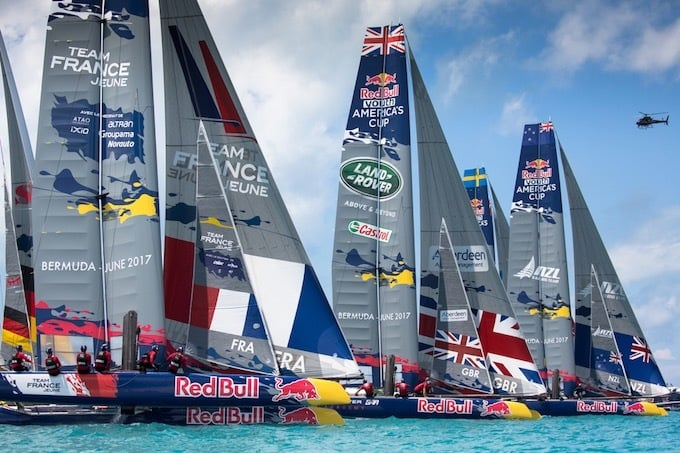 The British Land Rover BAR Academy team has won the Red Bull Youth America's Cup
