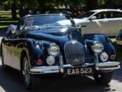 2017-07 Simply Jaguar People's Choice Runner Up Paul Baker in his Jaguar XK150