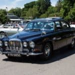 2017 Simply Jaguar Peoples Choice Runner Up Graham Woodberry in his Daimler 420