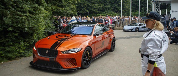 Jaguar XE SV Project 8 wins 'Showstopper' award at 2017 Goodwood