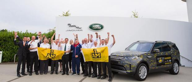 Jaguar Land Rover employees show their support for Invictus Games