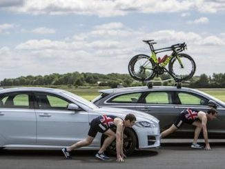 Olympic athletes compete in unique Jaguar XF triathlon