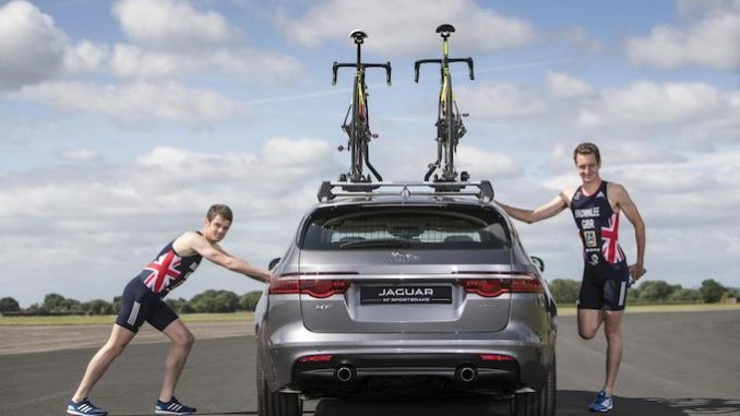 Sibling rivalry - Olympic athletes compete in unique Jaguar XF triathlon