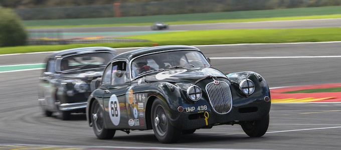 Marc Gordon xk150 - JAGUAR CLASSIC CHALLENGE SEASON SIGNS OFF AT SPA WITH THIRD WIN FOR GRAEME AND JAMES DODD