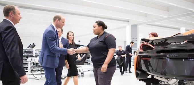 Prince William, HRH The Duke of Cambridge, Visits McLaren 4