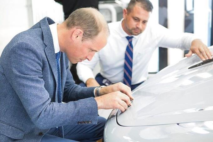 Prince William, HRH The Duke of Cambridge, Visits McLaren