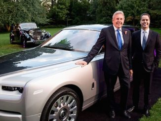 BRITISH AMBASSADOR TO THE UNITED STATES OF AMERICA HERALDS THE ARRIVAL OF THE ROLLS-ROYCE NEW PHANTOM