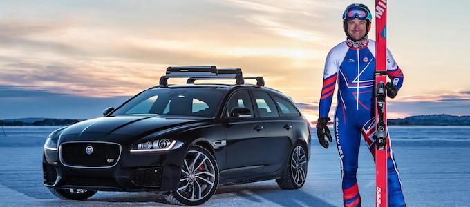 Olympic Skier and Jaguar XF Hit 117mph Towing Record - Graham Bell in Arjeplog, Sweden