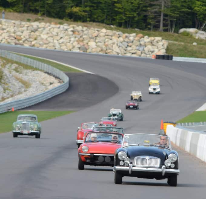 Steve Devine leads the way at Club Motorsports in a 1961 MGA