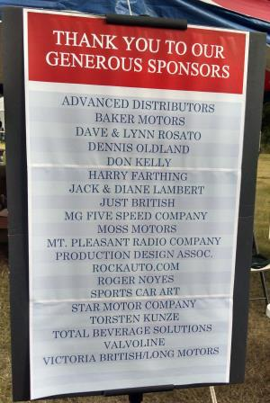 Charleston British Car Day Sponsors