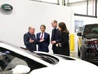 Duke And Duchess Of Cambridge Visit Jaguar Land Rover In Solihull