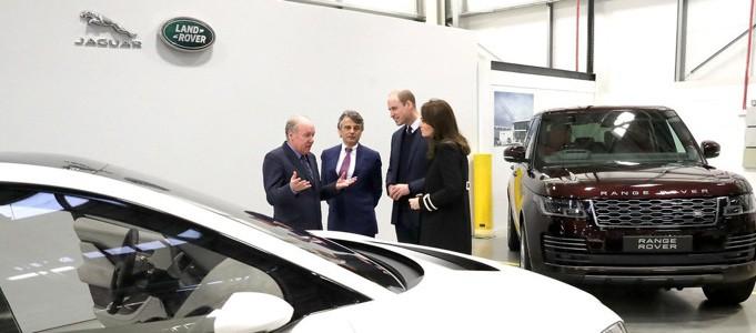 Duke And Duchess Of Cambridge Visit Jaguar Land Rover In Solihull
