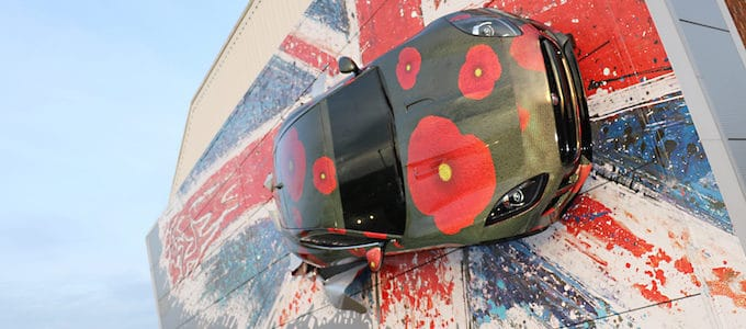 Jaguar F-Type Building Gets Poppy Makeover