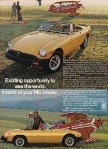 Vintage 1977 MGB Ad