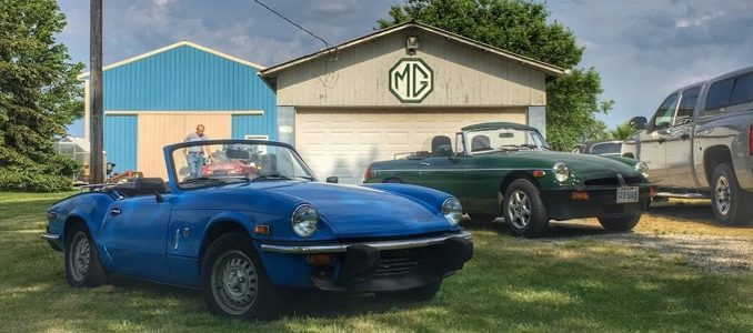 Vintage Triumph Spitfire and MG in Ohio