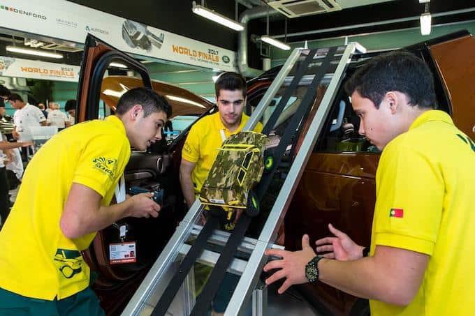 K-EVO (Portugal) take on the challenging off-road course [L-R Diogo Cerqueira, Hugo Oliveira, Luis Ligeiro]