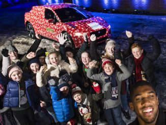 Joshua's visit supports the NPSCC's 'Light up Christmas for Children' fundraising campaign to give more children a brighter future