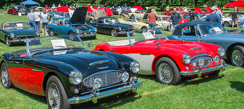 Annual Michiana Brits Car Show, Notre Dame, Indiana