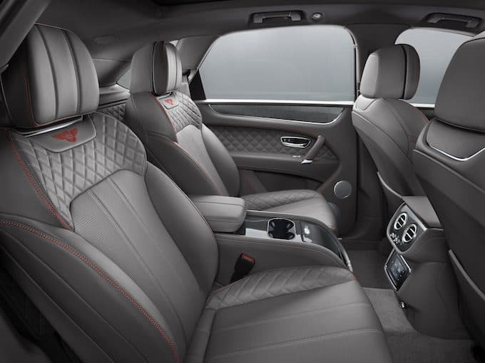 Bentley Bentayga Rear Interior