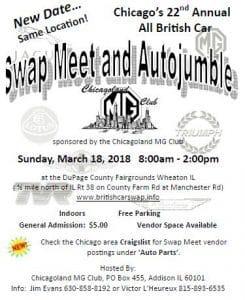 Twenty Second Annual All British Swap Meet and Autojumble