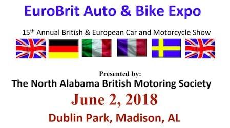 15th Annual EurorBrit Car & Bike Expo, Alabama