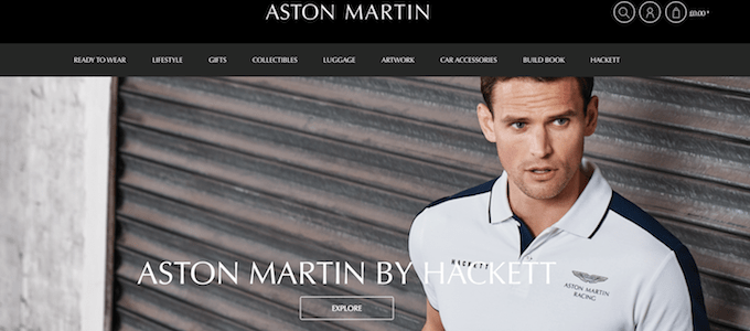 Aston Martin's Online Shop Opens Its Doors