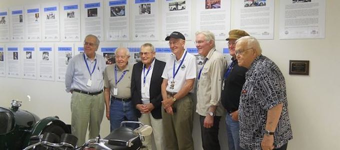 2017 BSCHoF Inductees. From left to right - Graham Robson, Mike Cook, Bob Tullius, Michael Dale, Peter Egan, John Twist, and Richard Knudson - In attendance but missing from this picture was Robert Johns
