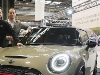 (L-R) Jordan Collard, MINI CHALLENGE newcomer, Nicolas Griebner, Head of Product at MINI UK and Charlie Butler-Henderson, MINI UK brand ambassador