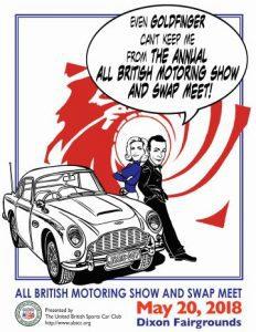 Annual All British Motor Vehicle Show and Swap Meet May 20th, 2018
