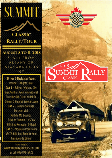 SUMMIT Classic Rally Tour - Vermont
