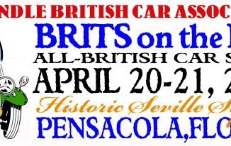 The 26th Pensacola British Car Show will be on April 21, 2018!