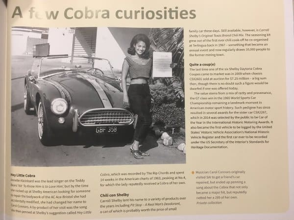 A Few Cobra Curiosities
