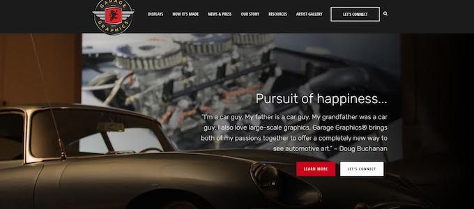 Garage Graphics Launches New Website 1