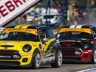MINI JCW Team Finishes 1 2 in the Street Tuner Class of the Continental Tire SportsCar Challenge Series at Sebring 1