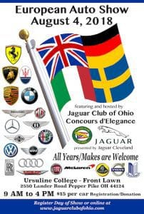 Jaguar Club of Ohio Concours d'Elegance and The European Auto Show