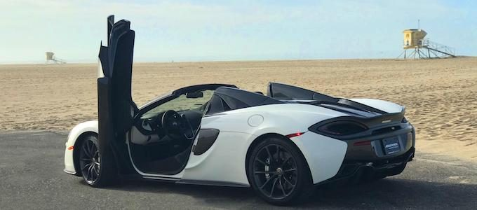 McLaren North America celebrates 5000th car milestone - 570S Spider in Silica White delivered to California customer