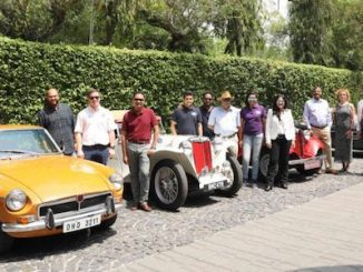 Meet and greet group shot - MG Car Club Set for Indian Expansion