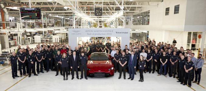 Aston Martin Vantage Start of Production