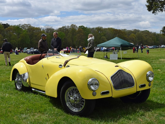 1954 Allard K2 owned by Robert Morris took Best of Show honors at Britain on the Green event