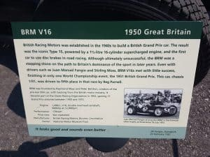 BRM V16 at Beaulieu Spring Autojumble 2