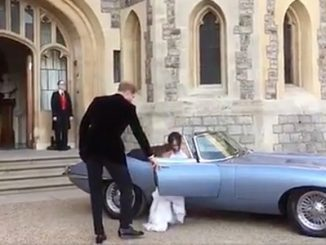 Cars of the Royal Wedding - Jaugar E-Type Converted to Electric