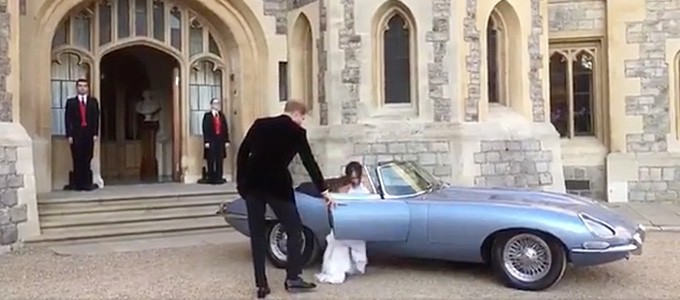 Cars of the Royal Wedding - Jaguar E-Type Zero Concept Converted to Electric