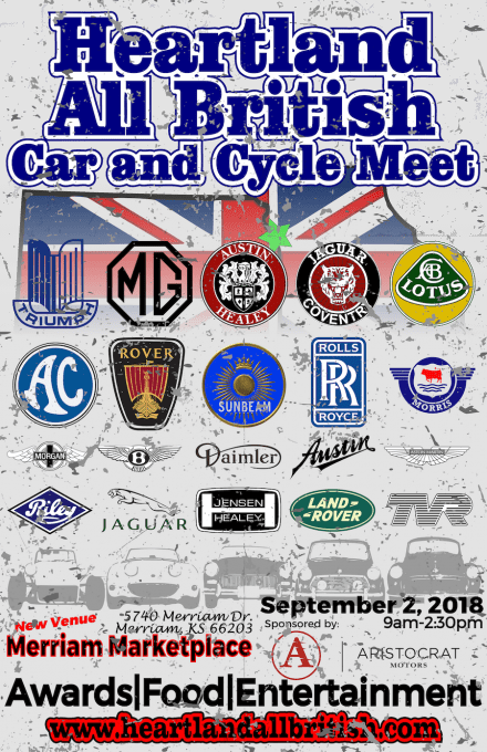 Heartland All British Car and Cycle Meet 2018