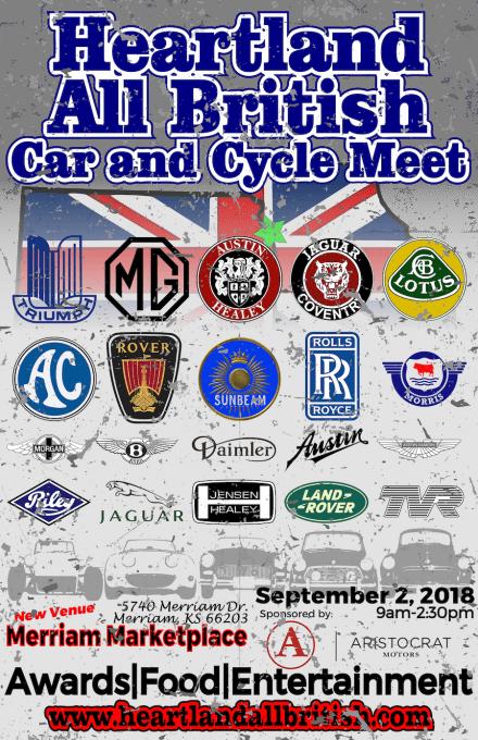 Heartland All British Car and Cycle Meet 2018