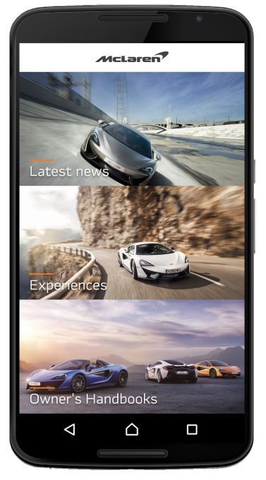 McLaren Automotive mobile app