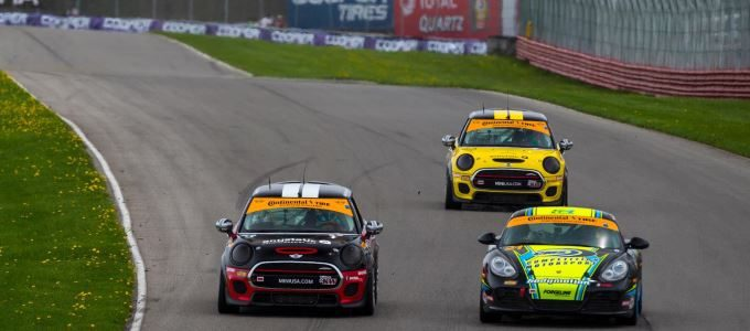 MINI JCW Team Finishes 1 - 2 in the Street Tuner Class of the Continental Tire SportsCar Challenge Series at Mid-Ohio 2