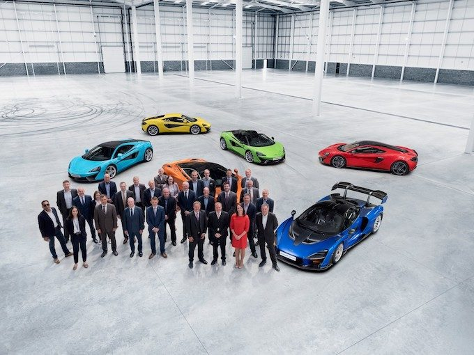 McLaren Automotive gets the key to its new McLaren Composites Technology Centre in Yorkshire