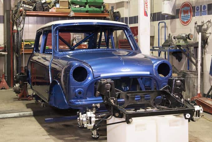 The BMH Cooper S race car coming to fruition