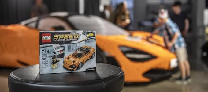 Full-size LEGO McLaren 720S now on display in Los Angeles at the Petersen Automotive Museum