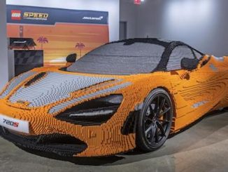 Full-size LEGO® McLaren 720S now on display in Los Angeles at the Petersen Automotive Museum